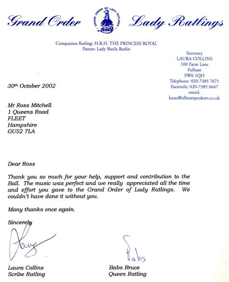 appreciation letter to event organiser letters of appreciation page 2008