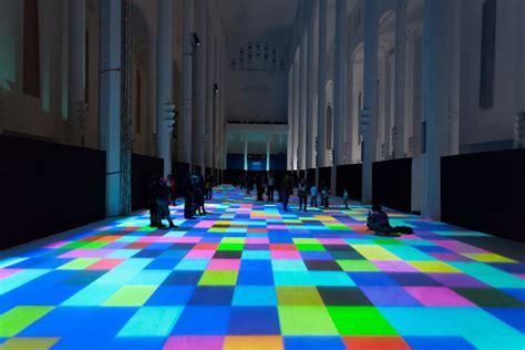 interactive light display turns floor of moroccan church