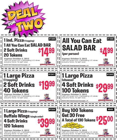 printable online coupons free chuck e cheese printable coupons 4