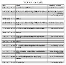 what is a work plan template work plan template 13 free documents for word
