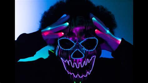 led light mask light up led mask el wire mask led gloves