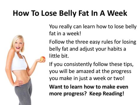 How To Shed Belly In A Week losing tummy fast best healthy for high