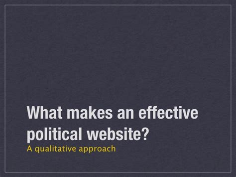 what makes a good home what makes a good political website