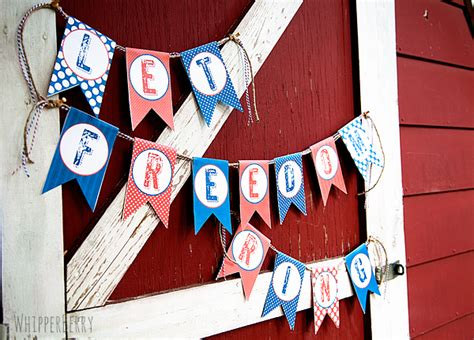 printable fourth of july banner 12 free fourth of july printables whipperberry