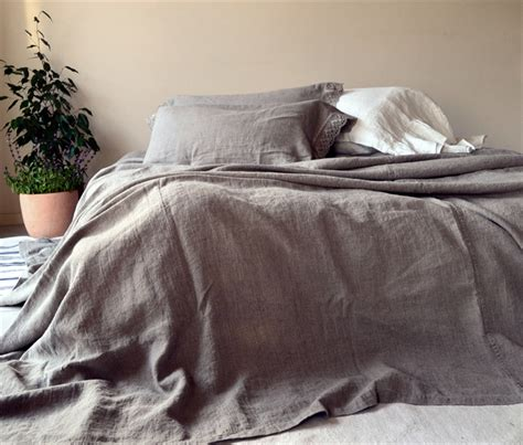how to be rough in bed rustic heavy linen bed cover coverlet linen summer