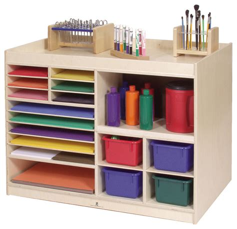 kids art table with storage steffywood mobile kids child art paint storage cabinet