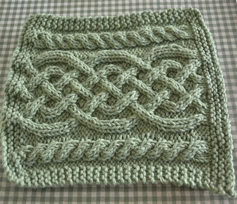 Celtic Cables Knitted Discloth Knanaknits
