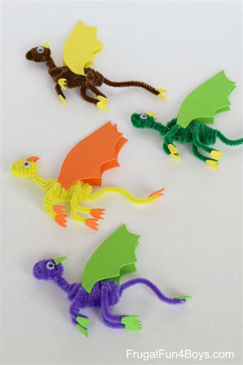 7 Best Images Of Make - pipe cleaner dragons craft for