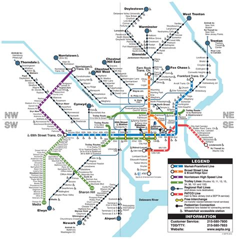 septa regional rail map septa clickable regional rail rail transit map
