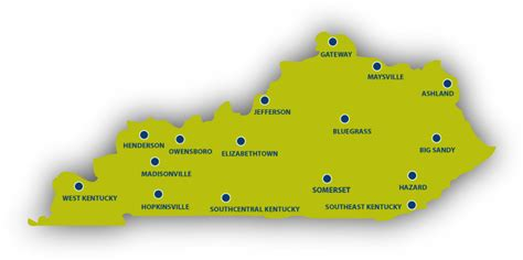 kentucky colleges map map of colleges in kentucky map