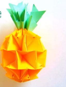 How To Make A Pineapple Out Of Paper - tropical origami pineapple allfreepapercrafts
