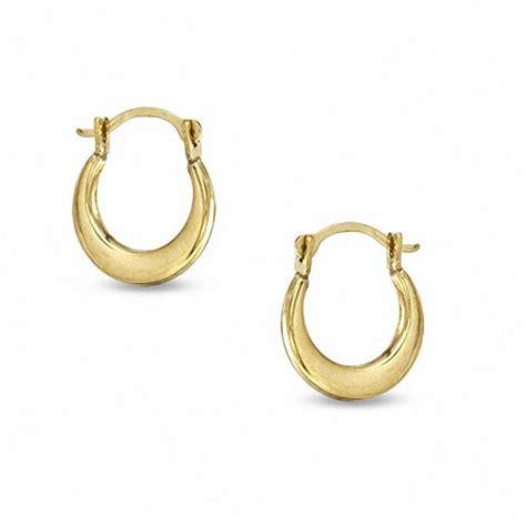 child s polished hoop earrings in 14k gold gold earrings
