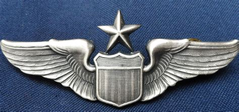 Wing Pilot Badge Us Air Usaf Emblem us air senior pilot qualification wing badge jb antiques