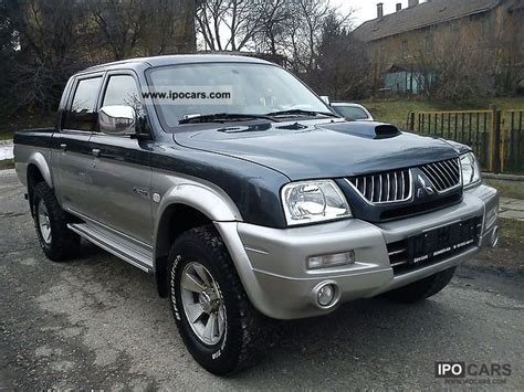 mitsubishi pickup 2005 2005 mitsubishi l200 pick up 4x4 intense car photo and specs