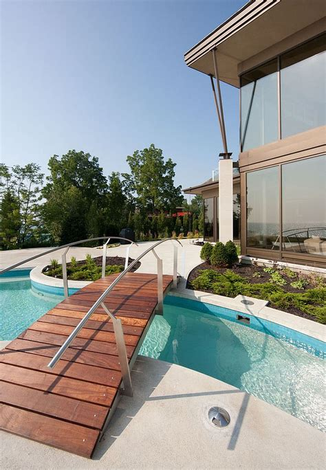 contemporary pools 25 fascinating pool bridge ideas that leave you enthralled