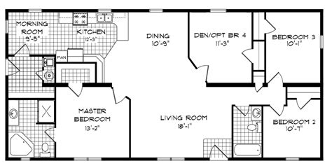 4 bedroom mobile home floor plans bedroom bath mobile home