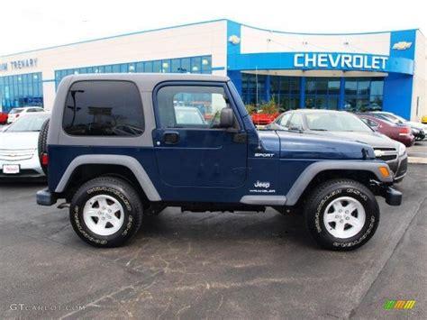 jeep sport 2005 2005 patriot blue pearl jeep wrangler sport 4x4 62663136