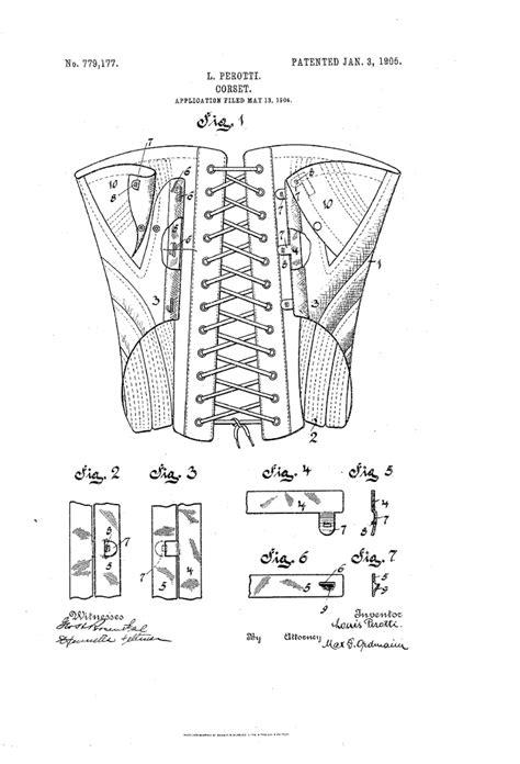 design idea patent 47 best images about corset patents on pinterest