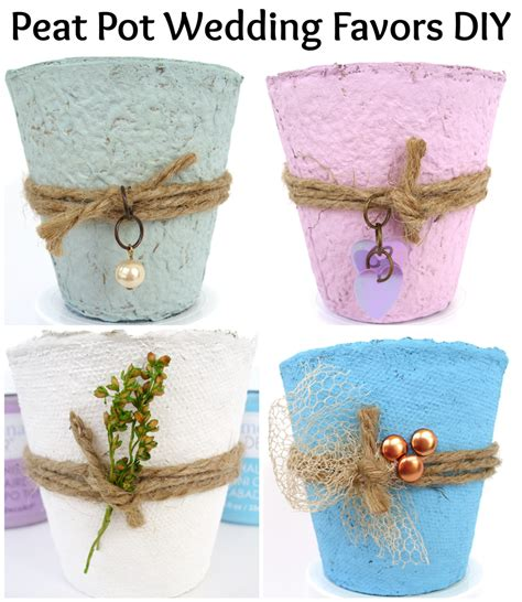 Colorful Peat Pot Favors 365 Days Of Crafts Inspiration - peat pot wedding favors diy and pet scribbles