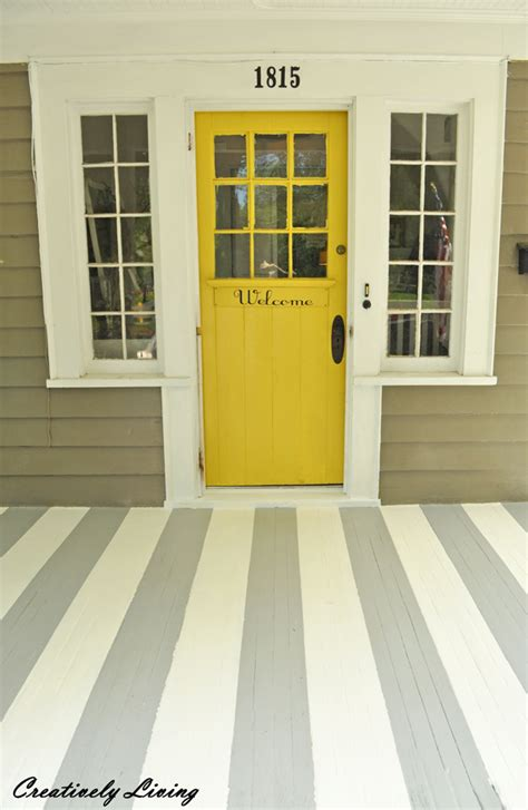 paint your porch with stripes creatively living