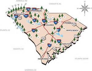 carolina state parks map south carolina state park map south carolina mappery