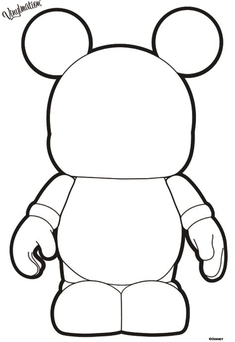 Blank Coloring Pages Disney by Disney Vinylmation Blank And Bows Printable