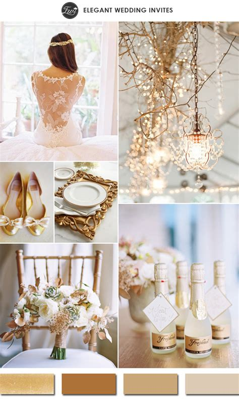 7 Wedding Trends by 10 Gold Wedding Color Ideas 2016 Wedding Trends