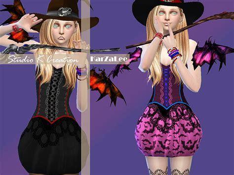 bow set at studio k creation 187 sims 4 updates little witch outfit at studio k creation 187 sims 4 updates