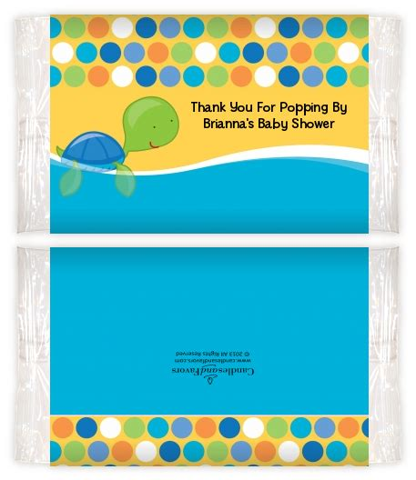 Baby Shower Popcorn Wrappers by Sea Turtle Boy Baby Shower Popcorn Wrappers Baby Shower