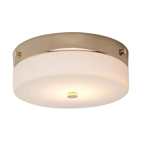 led flush fitting bathroom ceiling light opal glass with chrome ring elstead lighting tamar single led medium flush ceiling fitting in polished gold finish with opal