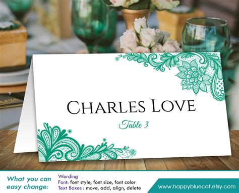 diy place cards templates diy printable wedding place card template instant