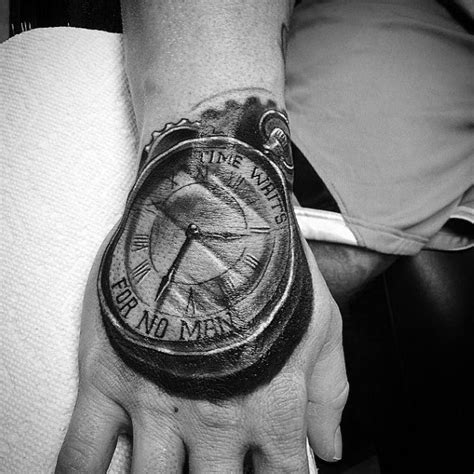 time waits for no man tattoo 40 time waits for no designs for quote