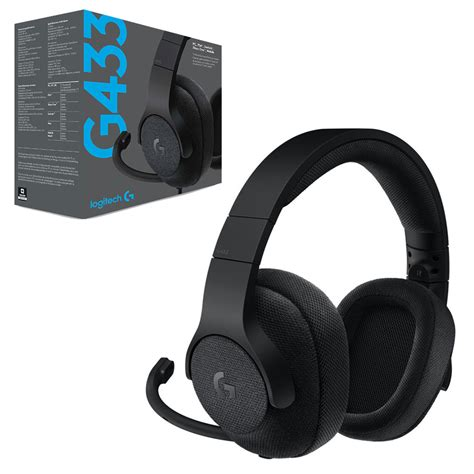 Logitech G433 7 1 Gaming Headset logitech g433 7 1 surround sound black wired gaming