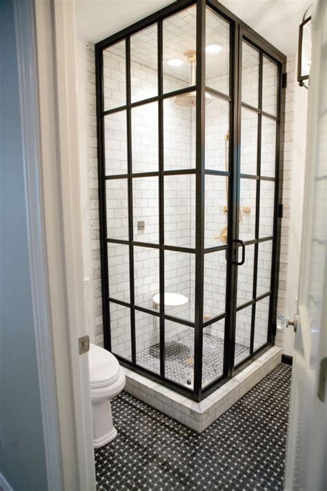 glass doors small bathroom: squeaky chic  contemporary shower doors