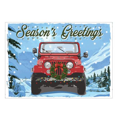christmas jeep card all things jeep jeep holiday card season s greetings