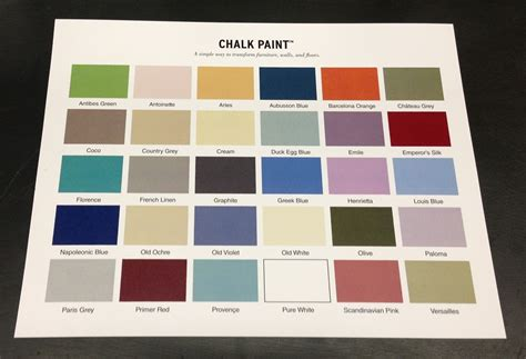 chalk paint colors sloan chalk paint colors options paint inspiration
