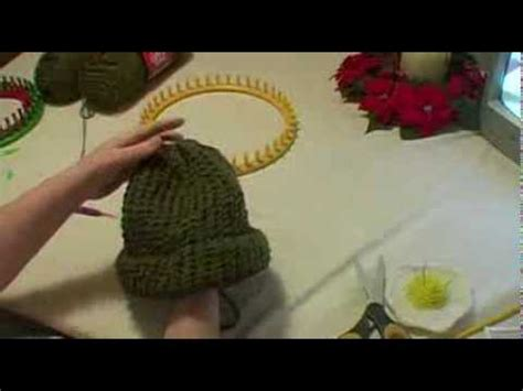 how to finish knitting a hat knitting an hat on loom
