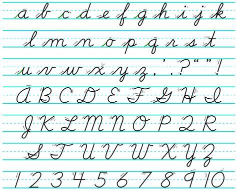 Letter Cursive cursive alphabet dr