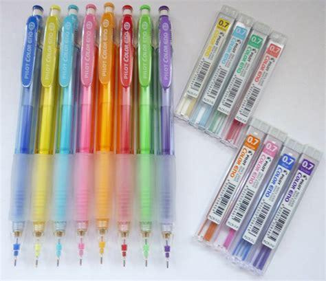 8 color x pilot color eno 0 7mm mechanical pencil lead