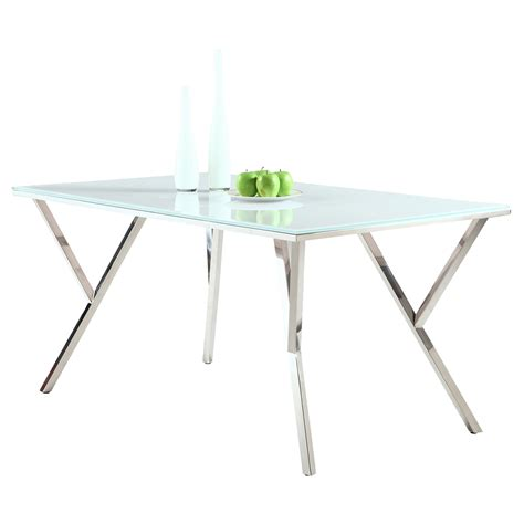 white glass table top jade white glass top dining table dcg stores