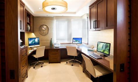 The Strand Contemporary Home Office Los Angeles By Two Desk Office Layout