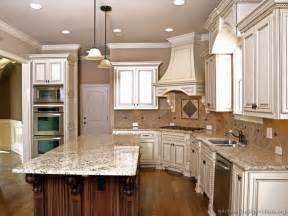 White Antique Kitchen Cabinets Pictures Of Kitchens Traditional Two Tone Kitchen Cabinets Kitchen 20