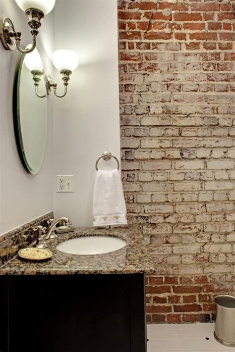 Bathroom Brick Wall by 39 Stylish Bathrooms With Brick Walls And Ceilings Digsdigs