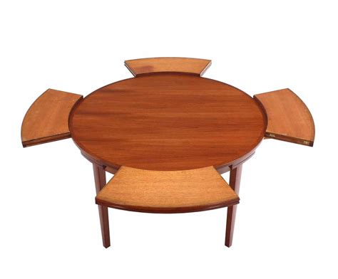 expandable dining tables rare danish modern teak round expandable top dining table