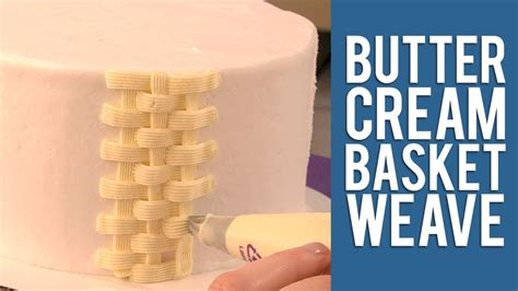 how to make a design how to make a buttercream basketweave cake design