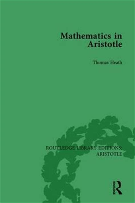 from mathematics to philosophy routledge revivals books mathematics in aristotle sir l heath 9781138938359