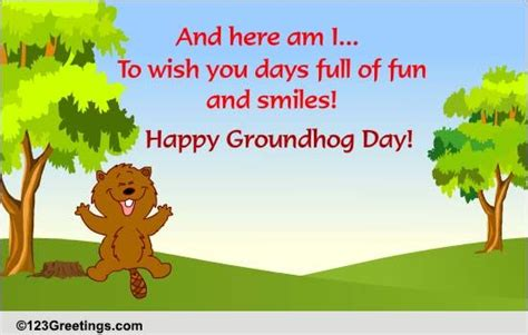 groundhog day 2018 wish happy groundhog day free groundhog day ecards