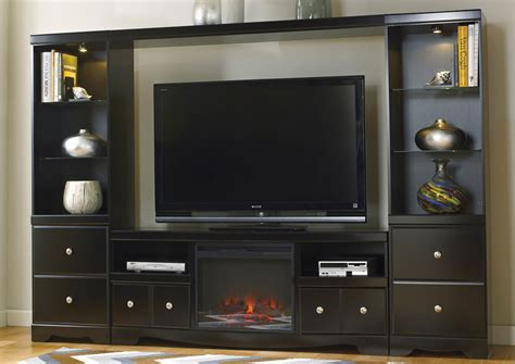 harlem furniture shay entertainment center w led fireplace