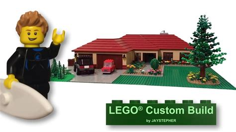 how to build a custom home lego family suburban home custom build moc youtube
