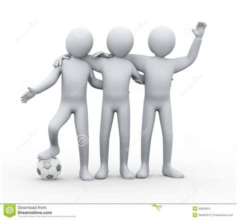 imagenes en 3d de amistad amistad de los futbolistas 3d fotos de archivo imagen